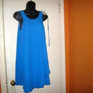 Pink Rose Blue Crush Midi Dress